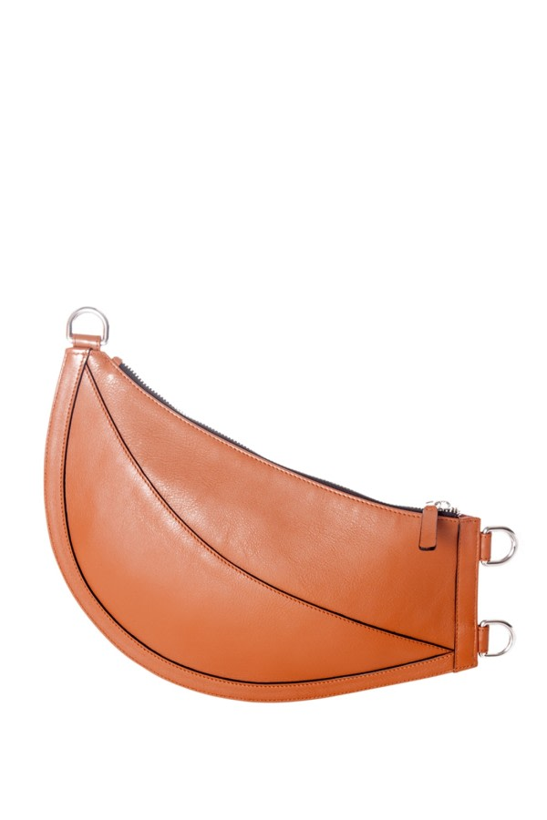 Cuerno Tan Leather Clutch