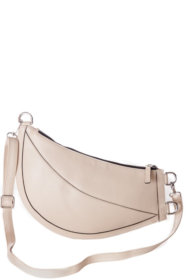 Cuerno White Leather Clutch