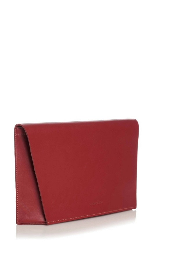 Capote Red Leather Clutch