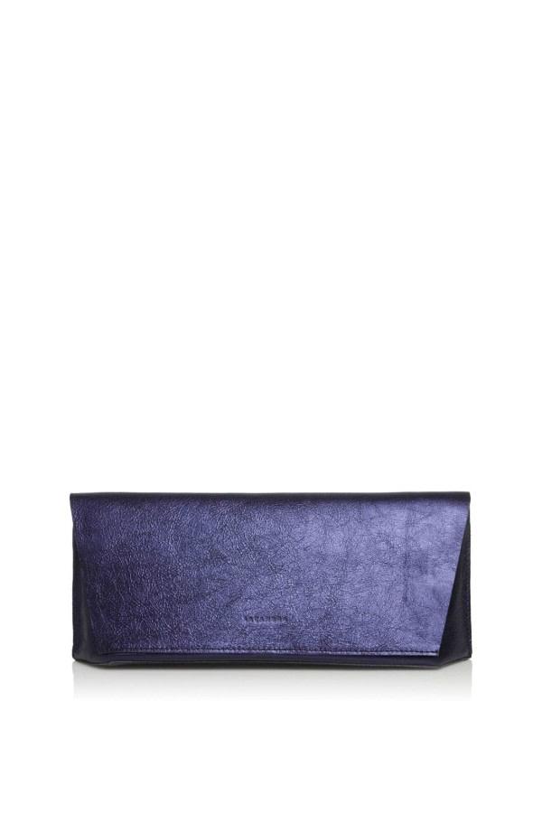Capote Mini Metallic Leather Clutch