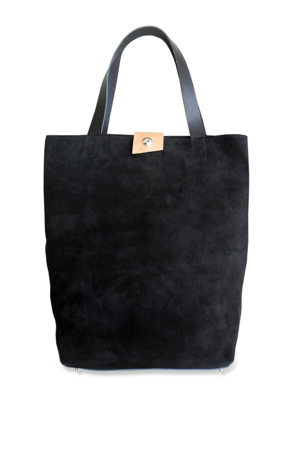 Chasing Auroras Suede Tote Bag