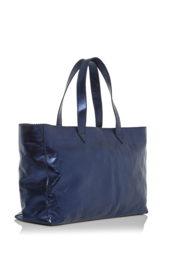 Metallic Leather Shopper Bag