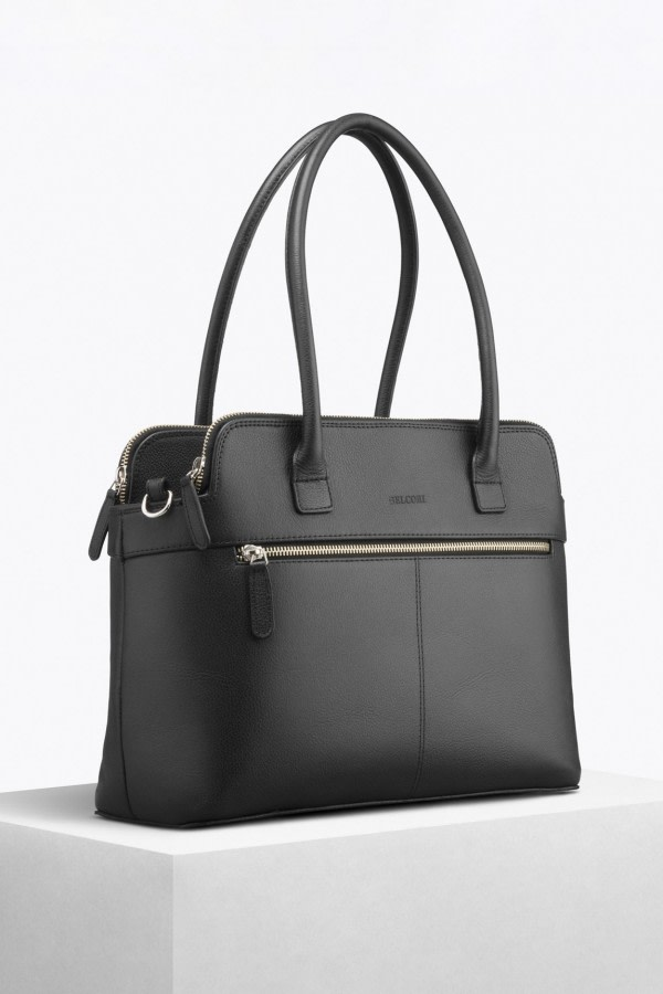 Black Bio Leather Tote Bag