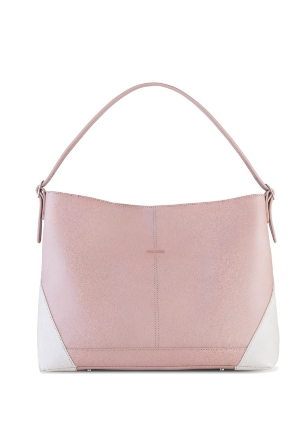 Boheme Pink Leather Hobo Bag