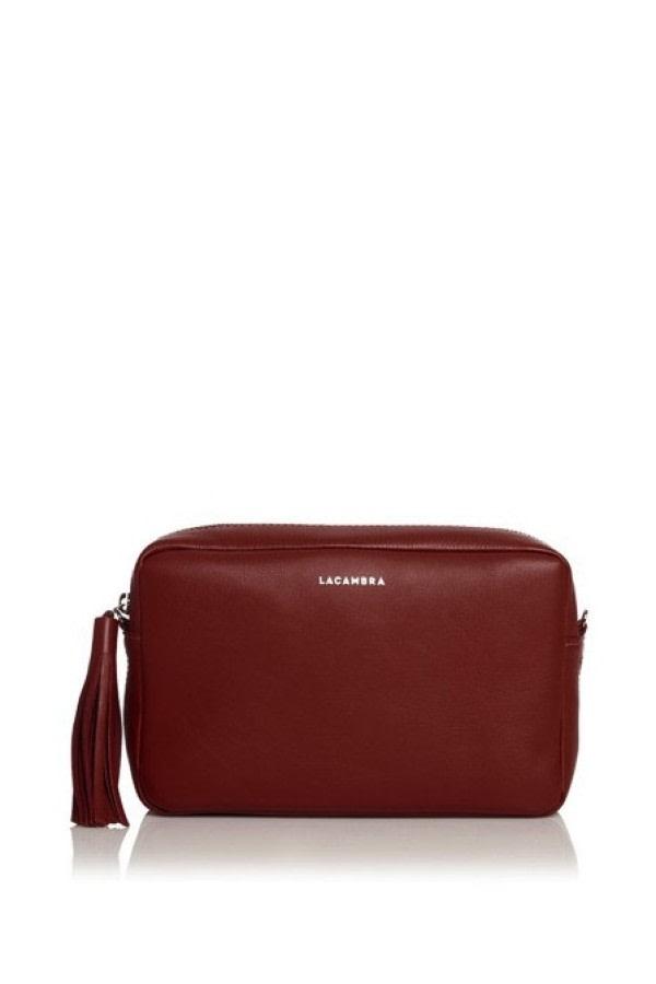 Bordeaux Leather Crossbody Bag