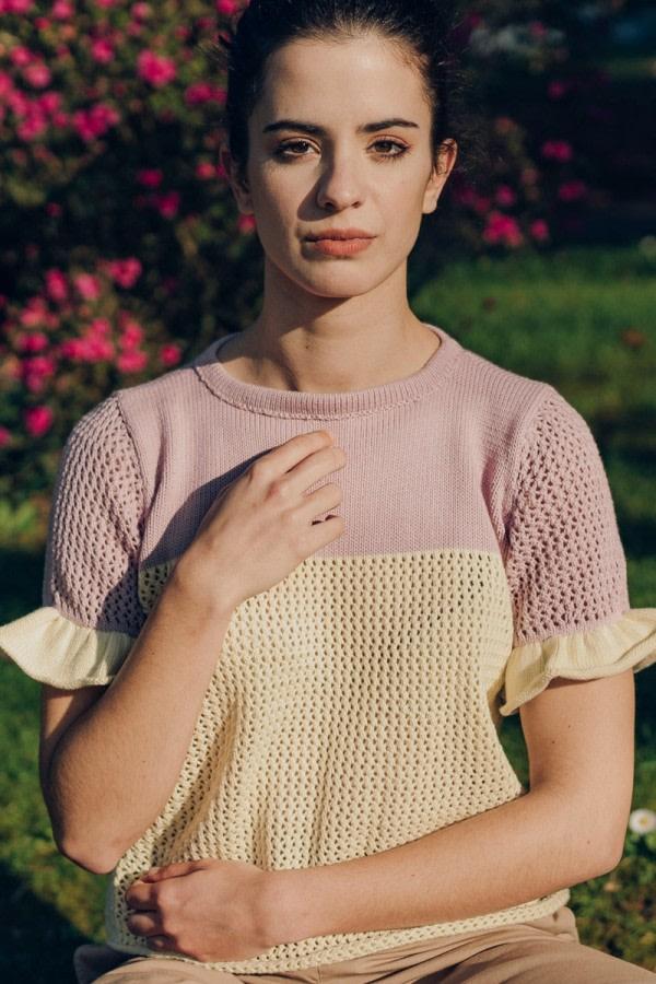 Bourbon Knitted Organic Top