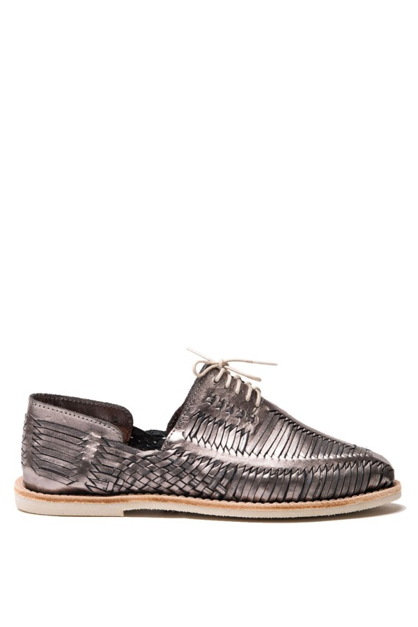 Benito Woven Lace-Up Shoes