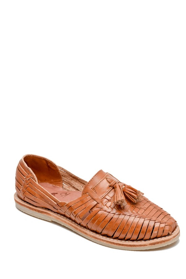 Frida Brown Tassel Loafers