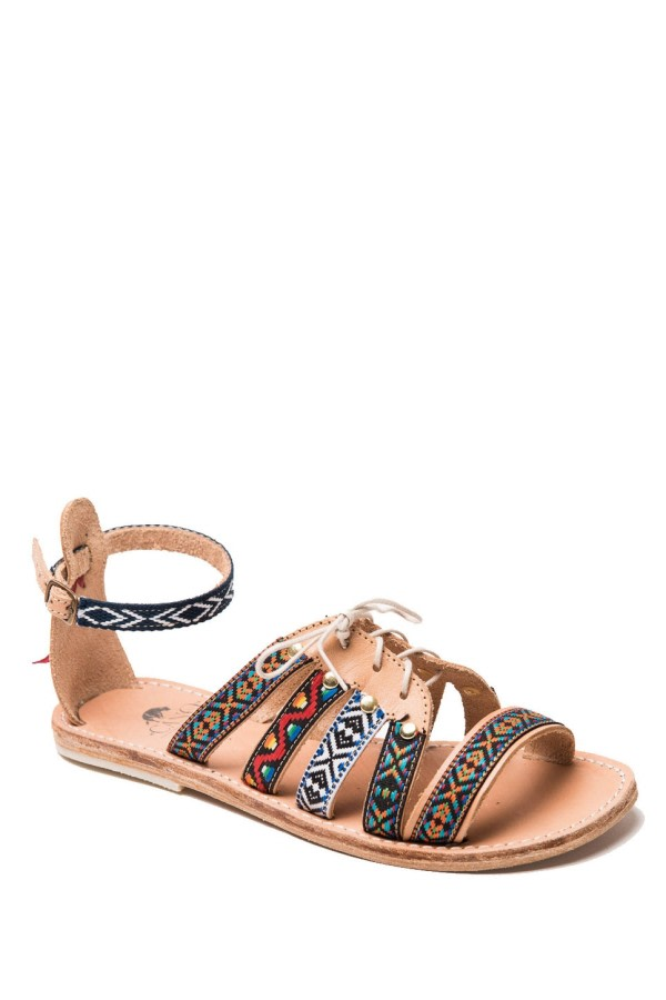 Huichol Leather Gladiator Sandals