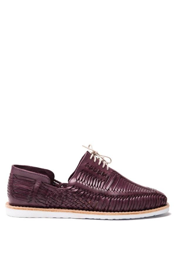 Violet Woven Lace-Up Shoes
