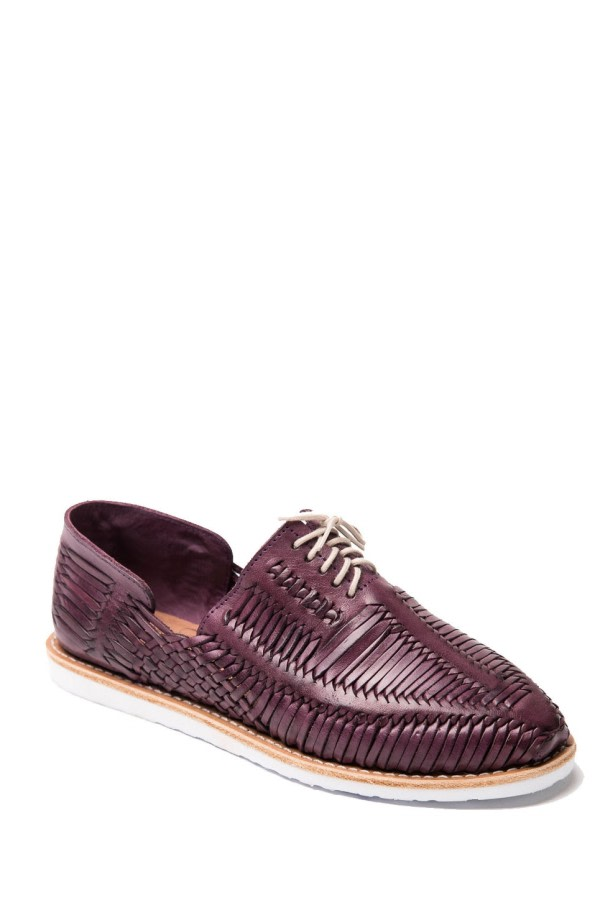 Violet Woven Lace-Up Shoes