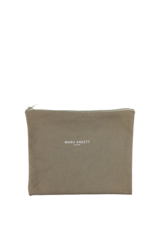 Carla Green Cotton Pouch