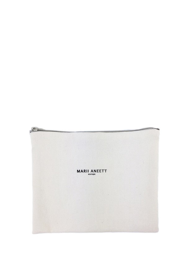 Carla White Cotton Pouch