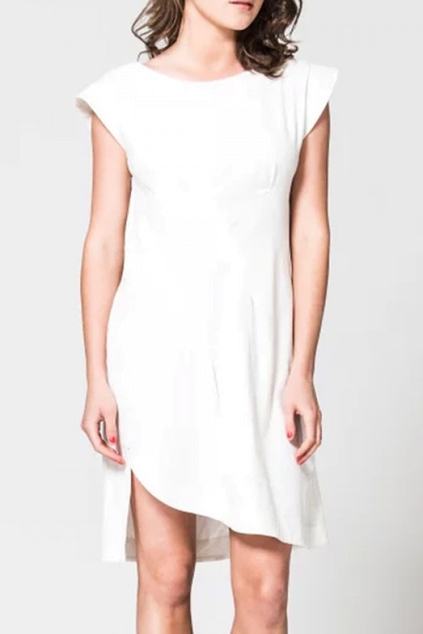 Arat White Organic Cotton Dress