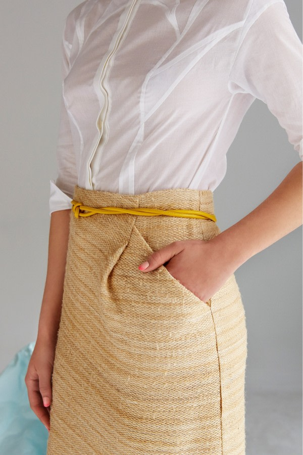 Organic Cotton-Hemp Pencil Skirt