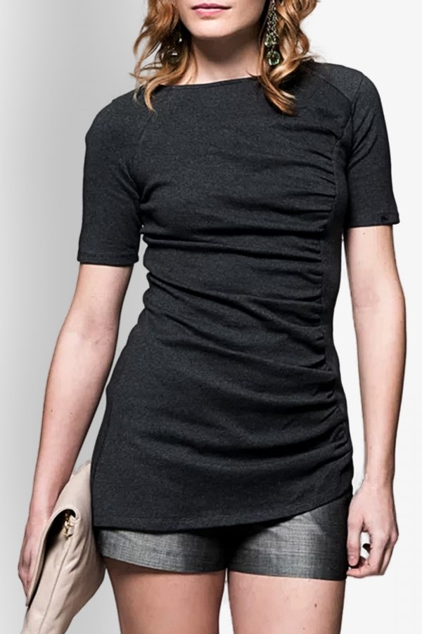 Asymmetric Organic Cotton Top