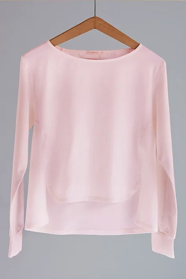 Rose Asymmetric Organic Cotton Top