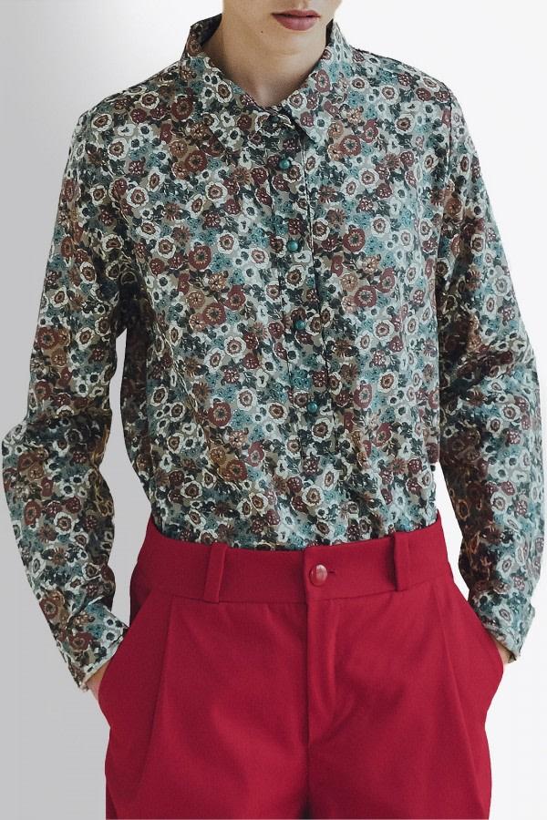 Magnolia Floral-Print Shirt