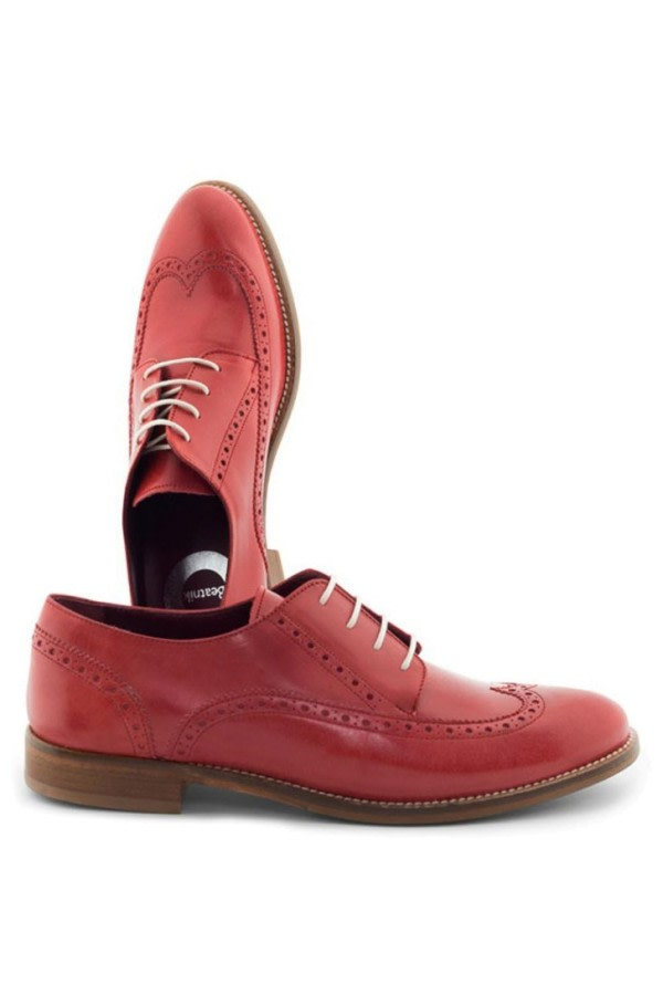 Orange Crush Leather Brogues