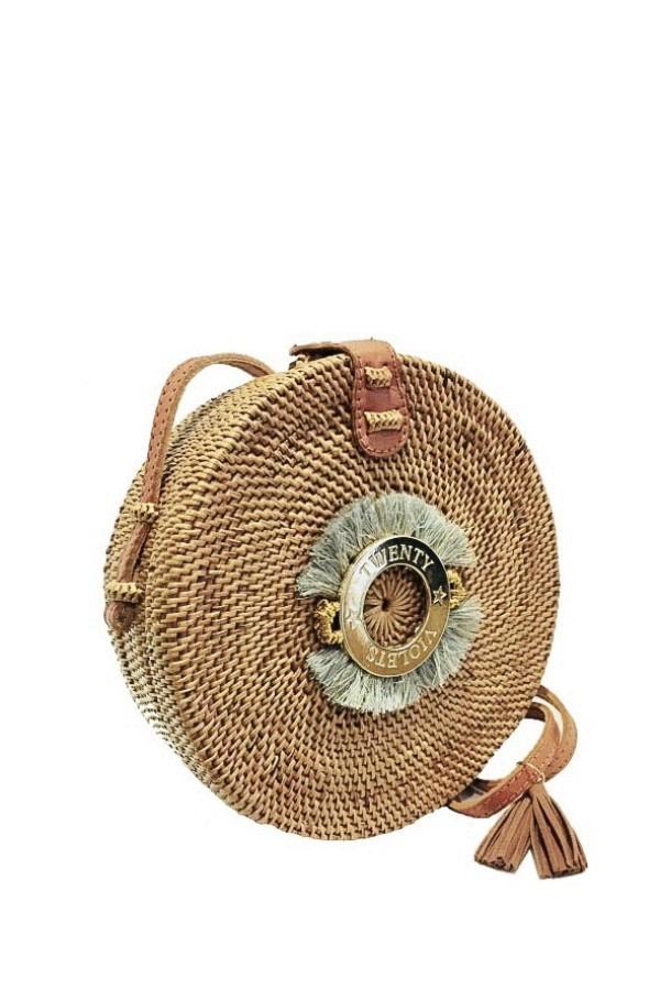Fringe Rattan Straw Bag