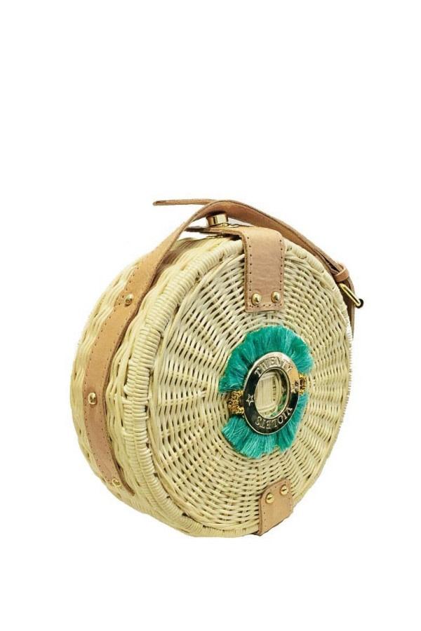 Fringe Wicker Straw Bag