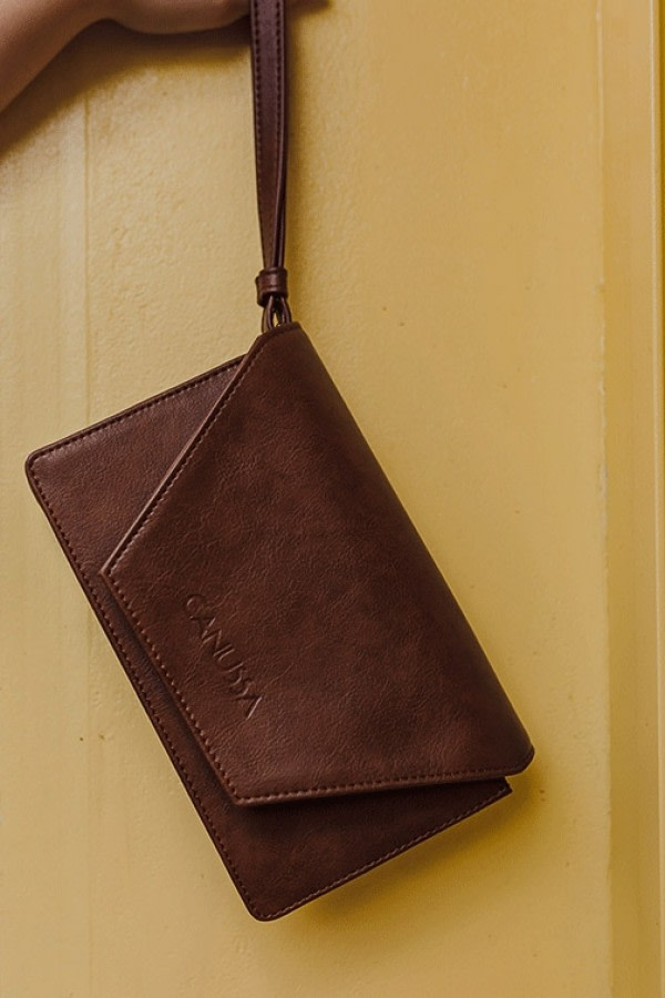 Hybrid Brown Vegan Leather Bag