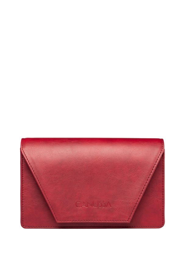 Hybrid Red Vegan Leather Bag