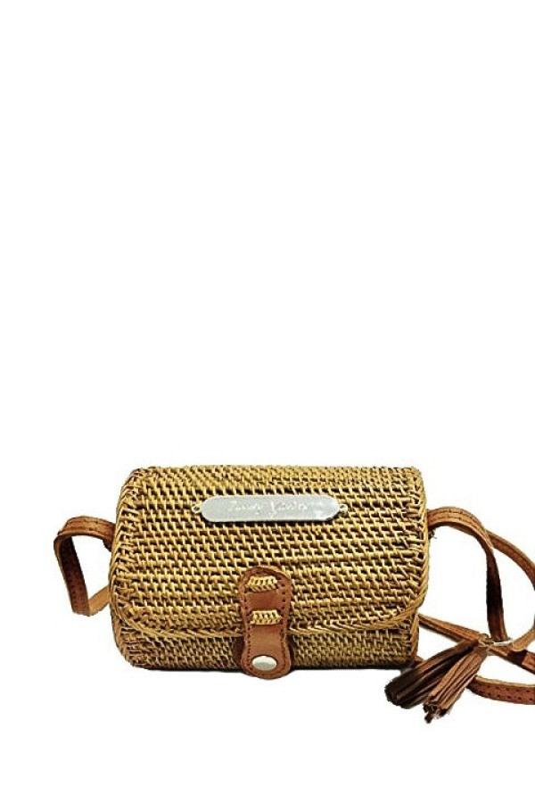 Koper Wicker Crossbody Bag
