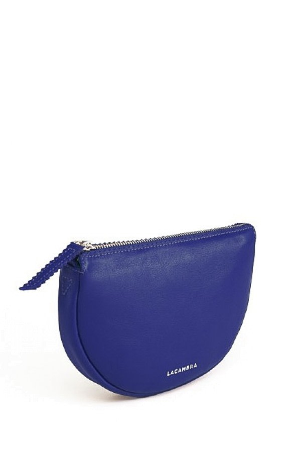 Luna Blue Leather Crossbody Bag