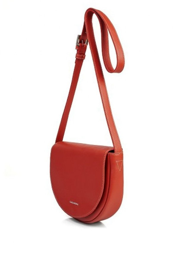 Red Leather Saddle Bag