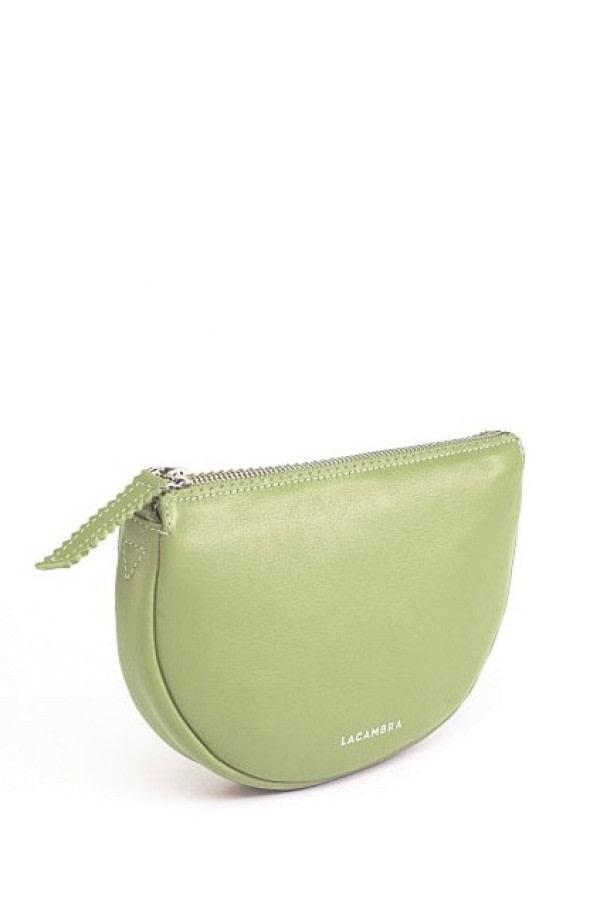 Luna Lime Leather Crossbody Bag