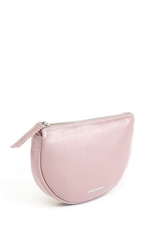 Luna Pink Leather Crossbody Bag