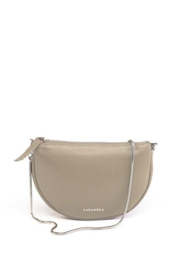 Luna Beige Leather Crossbody Bag