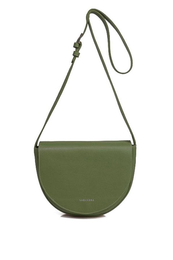 Green Leather Saddle Bag