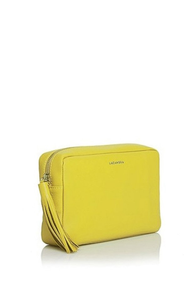 Yellow Leather Crossbody Bag