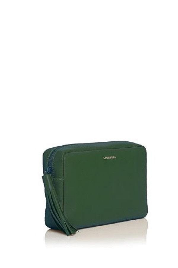 Pine Green Leather Crossbody Bag