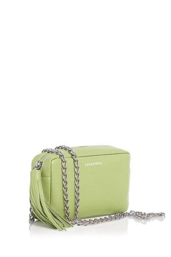 Lime Mini Tassel Crossbody Bag