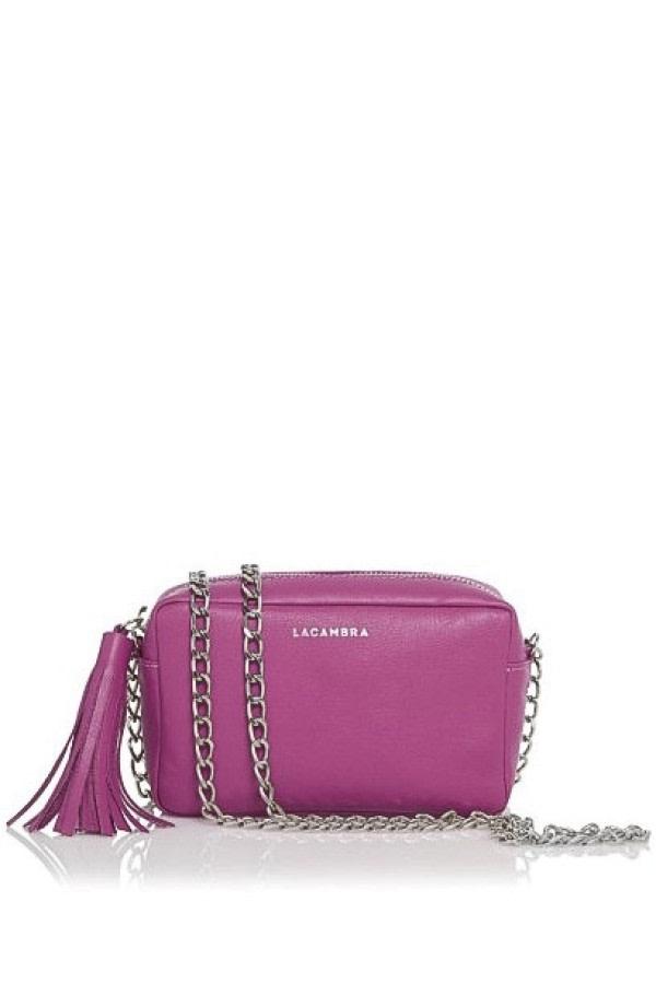 Fuchsia Mini Tassel Crossbody Bag