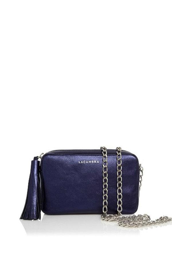 Metallic Mini Tassel Crossbody Bag