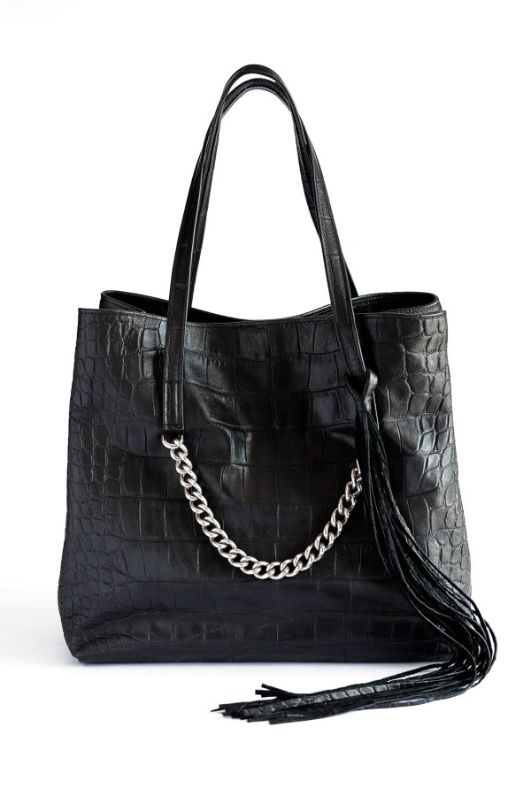 Tassel Leather Tote Bag
