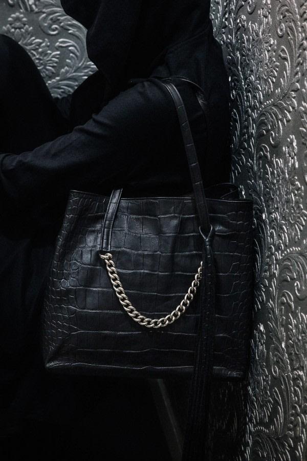 Tassel Leather Tote Bag
