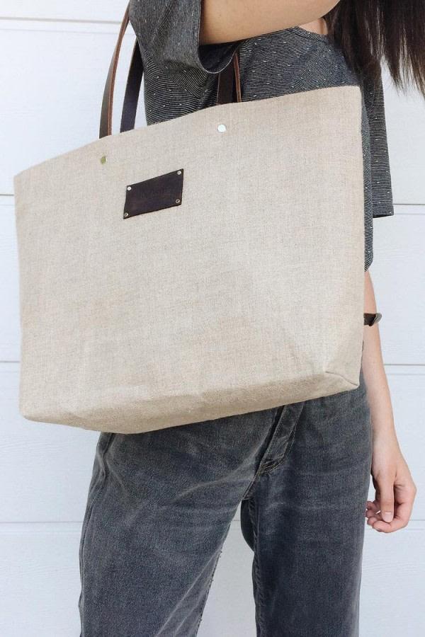 Lima Linen Tote Bag