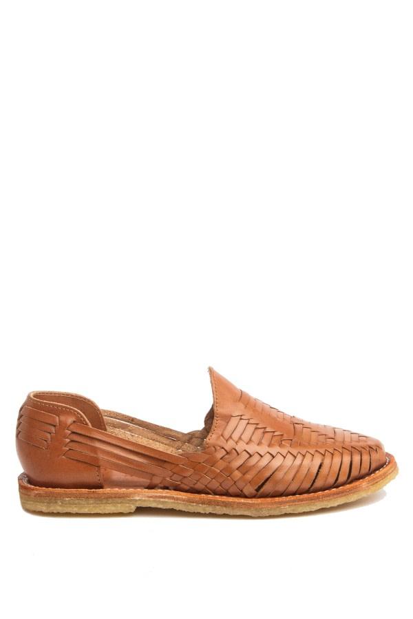 Mara Cognac Woven Loafers