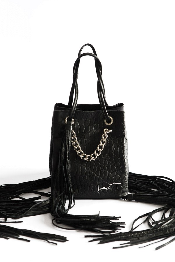 Mini Tassel Leather Tote Bag