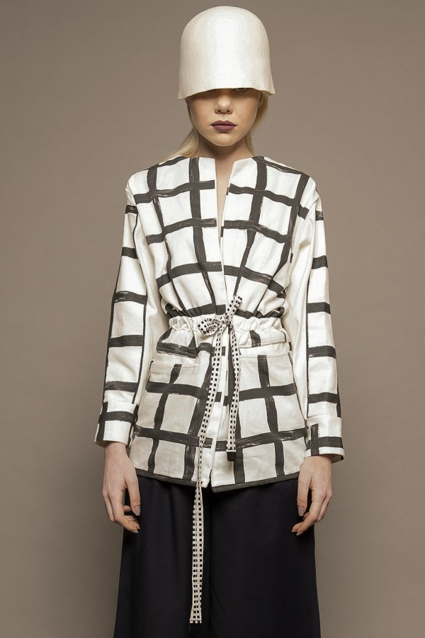 Mono Grid-Check Jacket