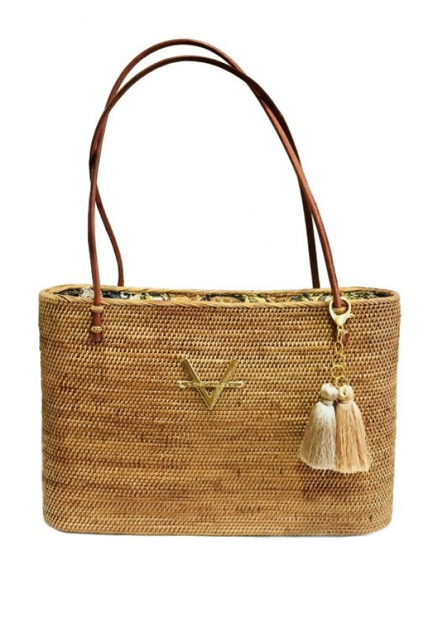 Natural Wicker Tote Bag