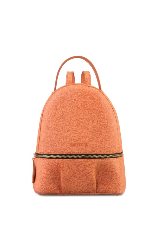 Orange Bio Leather Backpack