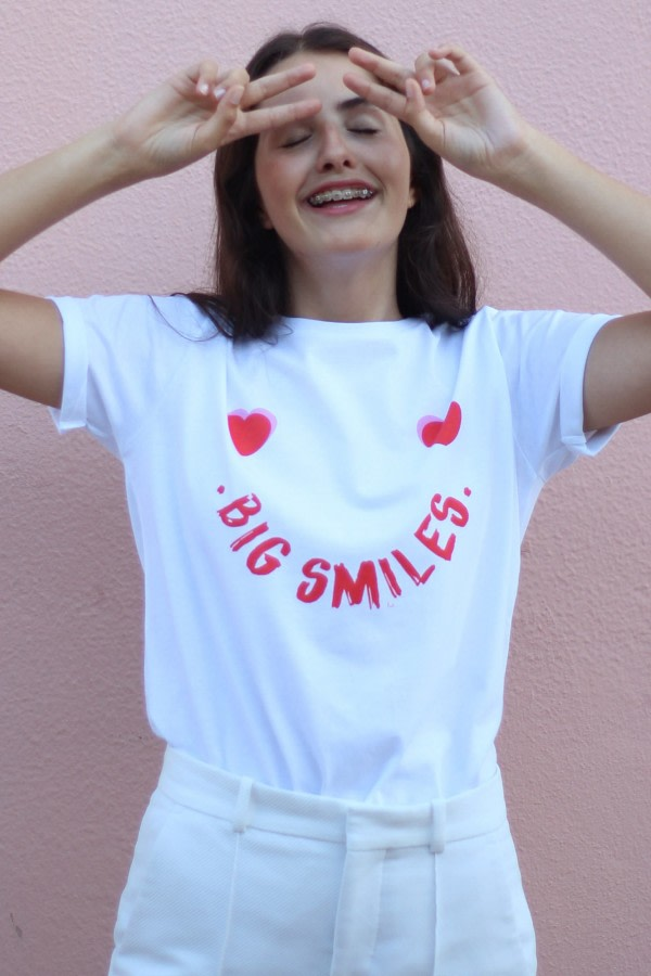 Organic T-shirt Big Smiles