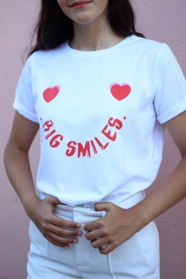 Organic T-shirt Big Smiles