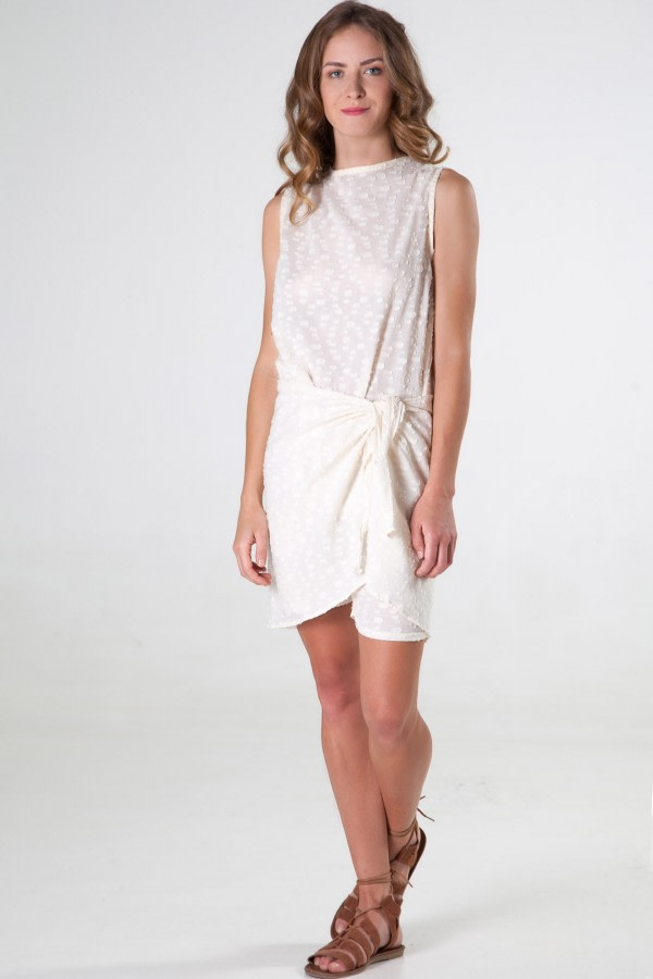 Iko Tie-Waist Cotton Playsuit